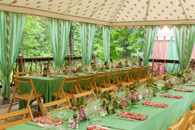 42 Guests, 5 Courses all under a Gypsy Faire Tent