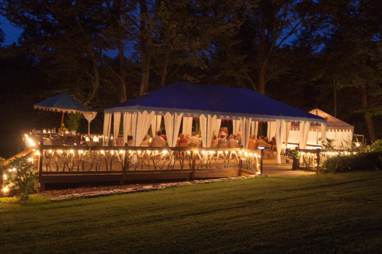A Gypsy Faire Tent by night is a sight to behold.