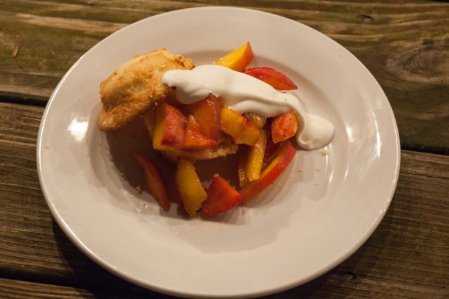 Peach & Strawberry Cornbread Shortcakes!